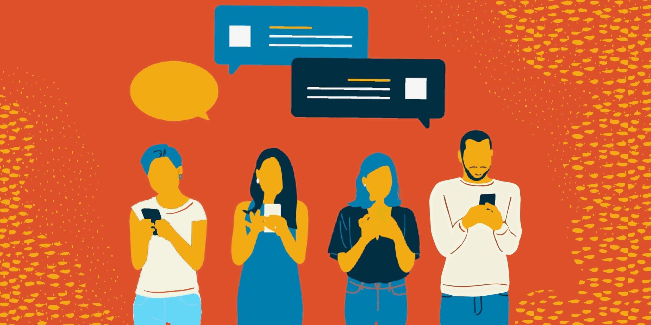 Правила отправки личных сообщений в групповых чатах