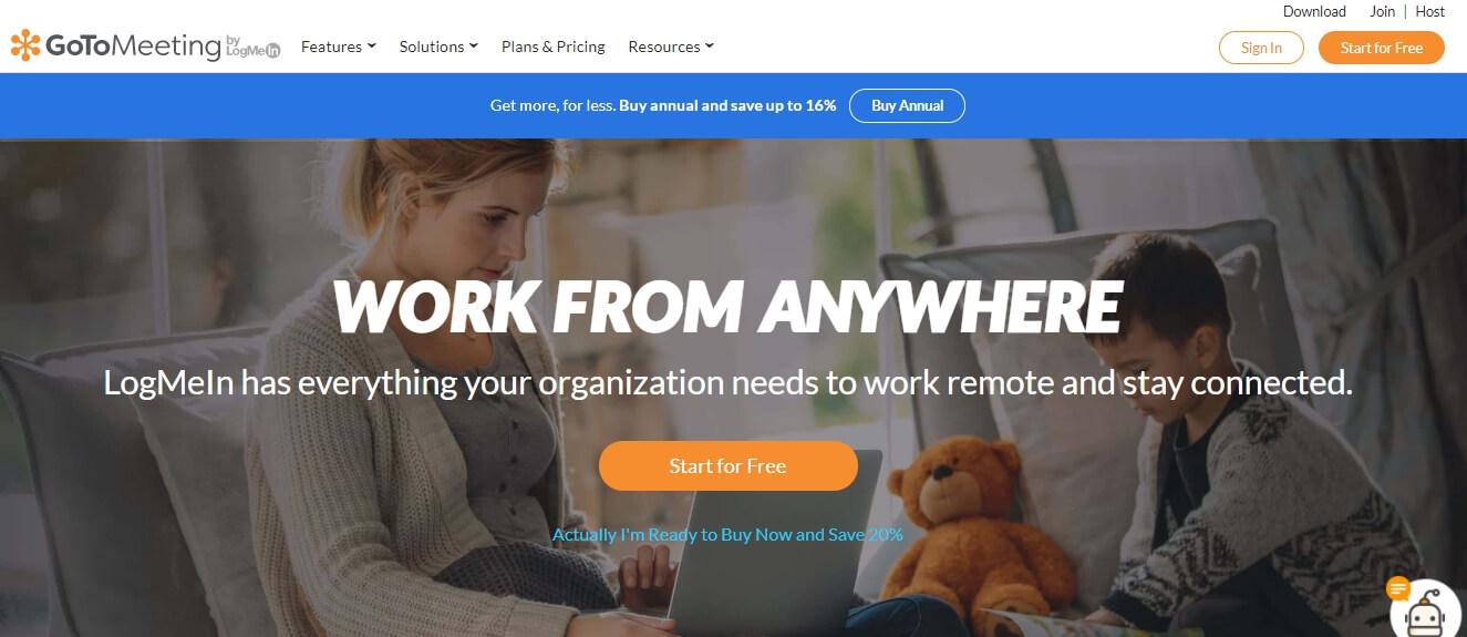 Широкие возможности платформы GoToMeeting при использовании сторонних сервисов