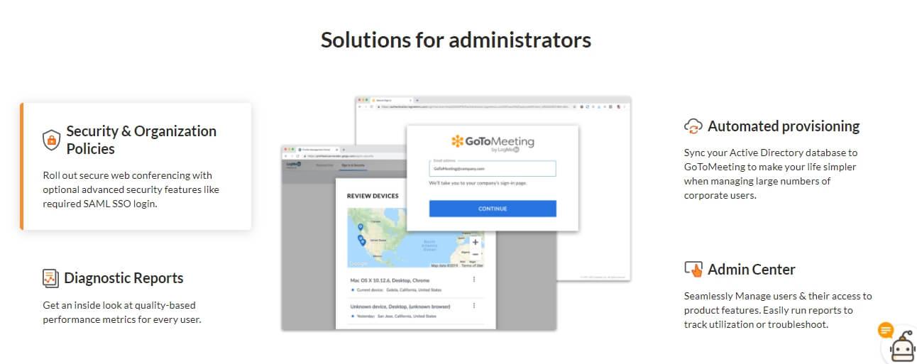 Инструменты контроля в GoToMeeting